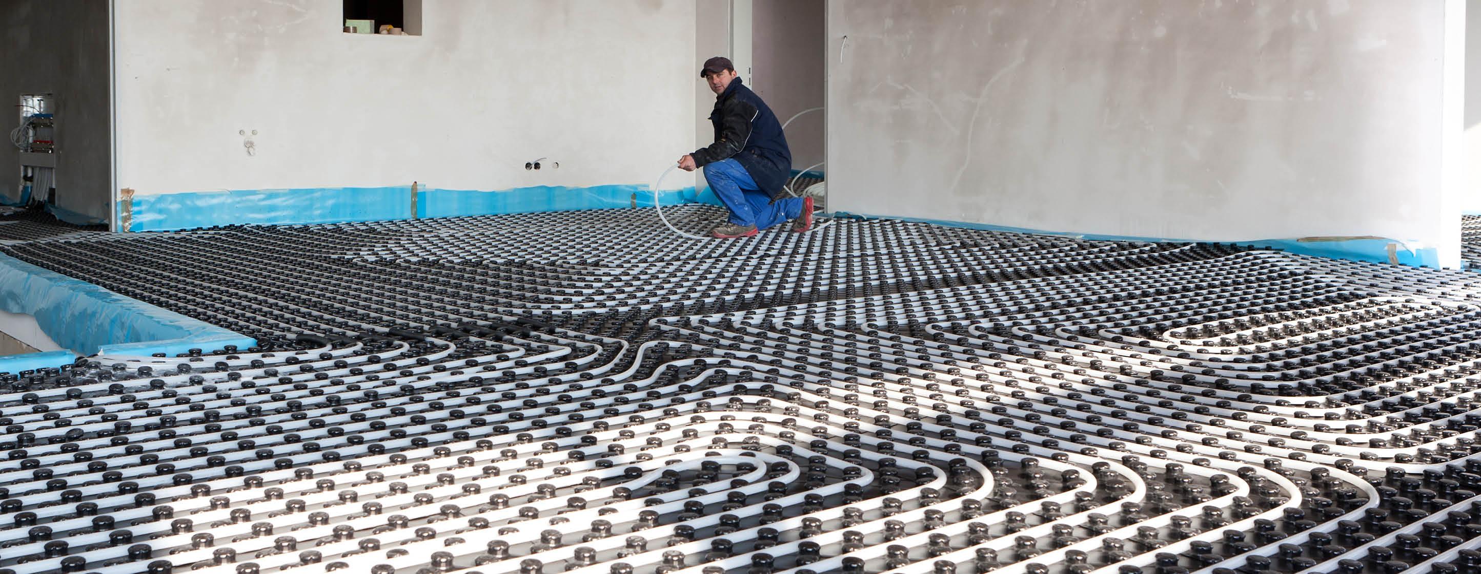 Wand- und Fußbodenheizung